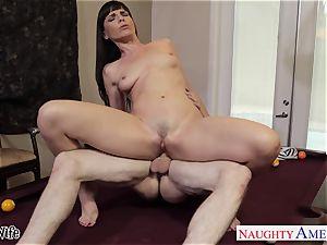 Lusty Dana DeArmond takes his ample blast on her pretty face