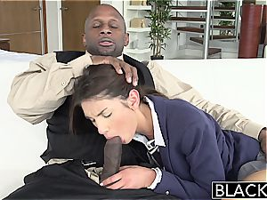 BLACKED Real Model with flawless globes loves black man meat