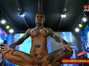 tattooed Calisi Ink In pee Arena - 666Bukkake
