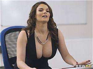 busty assistant Tasha Holz gets a huge knob at work