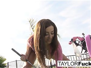 Taylor flashes you her big bra-stuffers