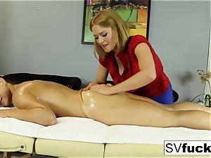 Sarah Vandella girl-on-girl massage