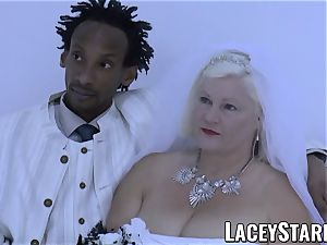 LACEYSTARR - grandmother bride fed with spunk after fuckin'