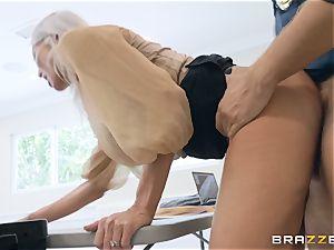 Emma Starr taking it hard from Keiran Lee