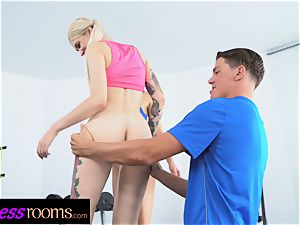 sport rooms Gym schoolteacher 3 way with 2 insatiable stunners
