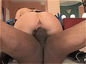 Devon taking his monster cock plums deep