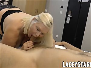 LACEYSTARR - GILF creampied by a lucky client