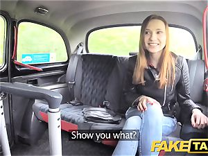 fake cab slim redhead loves rough sex