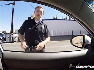 CAUGHT! black female gets squirted deepthroating off a cop