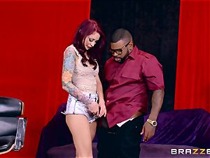 Monique Alexander getting her juicy twat humped by a ebony penis