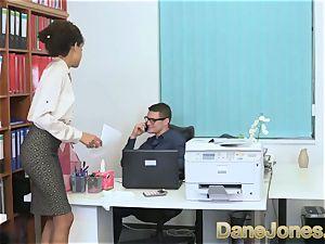 Dane Jones beautiful teenager ebony office girl
