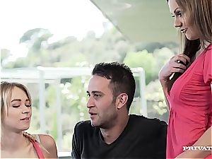 Persuasive Tina Kay filthy converses a couple into steaming anal invasion four-way