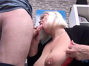 super-fucking-hot cougar Lacey Starr sausage sucking