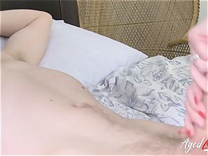 AgedLovE big-titted Lacey Starr hard-core and suck off