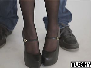 TUSHY fashion Model Marley Brinx strong rectal poking!