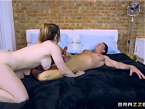 Lucia enjoy boinking two dudes at different times