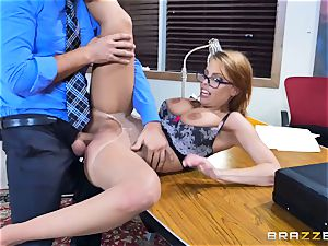 Britney Amber getting penetrated in her bum and twat