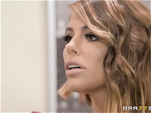 Adriana Chechik porked in her vagina by a black lollipop