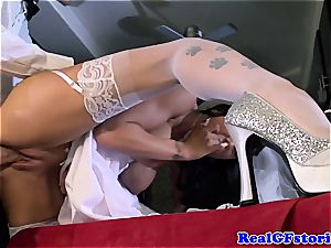 huge-titted bride facialized by her ex