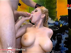 chessie Kay and Angel Wicky yam-sized cupcakes and jizm caked