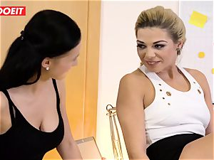 Stepdaughter joins parent in penetrating the office assistant