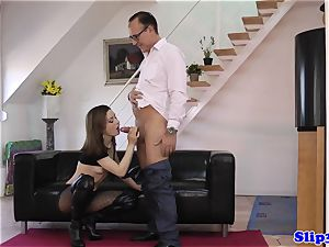classy hottie pussyfucked by crazy old dude