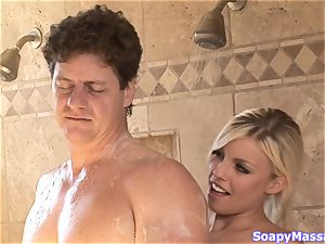 Britney Amber lathers him up