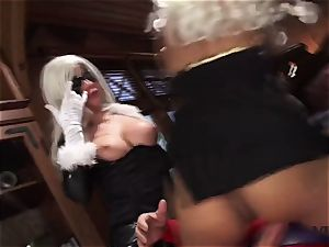Vivid.com - 3 supah Villains have a super-naughty threesome