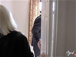 AgedLovE Mature gal Lacey Starr gargling rock-hard penis