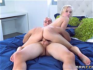 blond sweetie Bailey Brooke riding on top