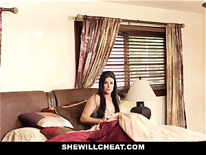 SheWillCheat - Stepmom Caught Using fuck stick
