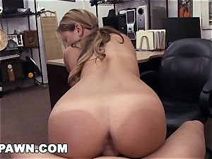 xxx PAWN - Waitress Desperate For Cash Sells Her culo