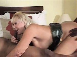 grandmother Blows ample ebony stiffys