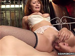 providing her rump up in a nasty bdsm session