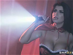 jism longing vampiress Angela milky sharing man-meat with Romi Rain