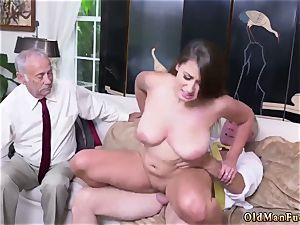 parent and mommy senior stud gonzo Ivy makes an impression with her massive mammories and bootie