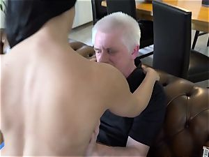 older pornography torrid barely legal years elderly virgin bang-out with older dude