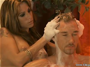 voluptuous massage For His weary beef whistle