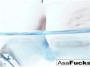 amazing Asa Akira plays with her vag